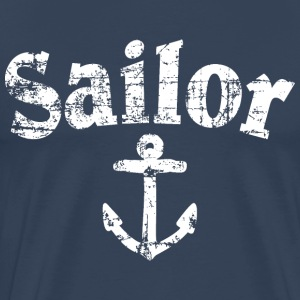 Sailor Anchor Vintage Sailing Design (White) T-shirts - Mannen Premium T-shirt