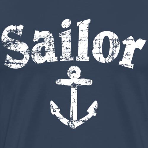 Sailor Anker Vintage Weiß Segel Design