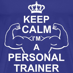 keep_calm_i'm_a_personal_trainer_g1 T-shirts - Herre premium T-shirt