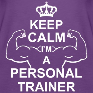 keep_calm_i'm_a_personal_trainer_g1 Tops - Women's Premium Tank Top