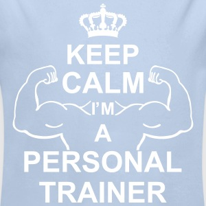 keep_calm_i'm_a_personal_trainer_g1 Sweaters - Baby bio-rompertje met lange mouwen