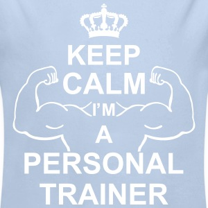 keep_calm_i'm_a_personal_trainer_g1 Gensere - Økologisk langermet baby-body