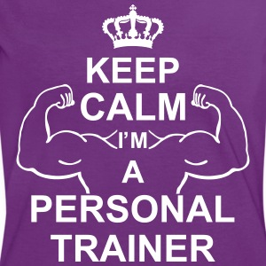 keep_calm_i'm_a_personal_trainer_g1 T-shirts - Kontrast-T-shirt dam