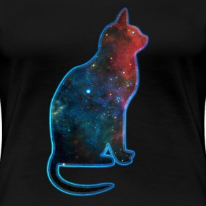 Space cat, cosmos, universe, galaxy, milky way T-Shirts - Women's Premium T-Shirt