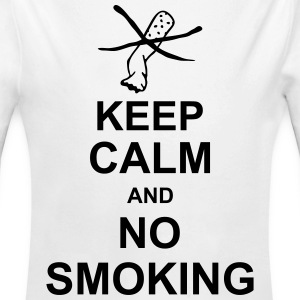 keep_calm_and_no_smoking_g1 Sudaderas - Body orgánico de manga larga para bebé