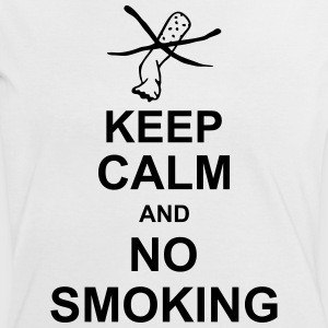 keep_calm_and_no_smoking_g1 Tee shirts - T-shirt contraste Femme