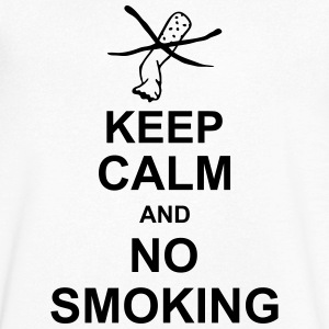 keep_calm_and_no_smoking_g1 Koszulki - Koszulka męska Canvas z dekoltem w serek