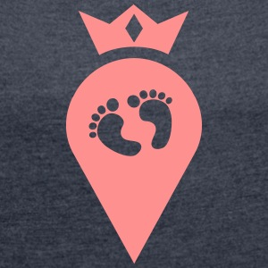 Baby Finder with Crown, here is a baby, geo T-Shirts - Women's T-shirt with rolled up sleeves