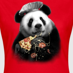 Rot Pizza Panda T-Shirts - Frauen T-Shirt