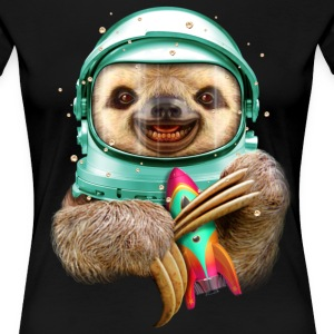 Sort SPACESLOTH T-shirts - Dame premium T-shirt