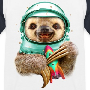 Hvit/marine SPACESLOTH Skjorter - Baseball-T-skjorte for barn