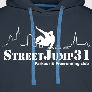 StreetJump31 - Parkour & Freerunning Club Sweat-shirts - Sweat-shirt à capuche Premium pour hommes