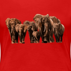 elephants T-Shirts - Frauen Premium T-Shirt