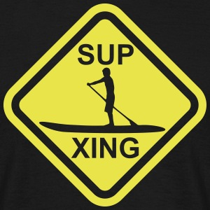 SUP Crossing - Stand up paddling roadsign - Männer T-Shirt
