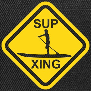SUP Crossing - Stand up paddling roadsign - Snapback Cap