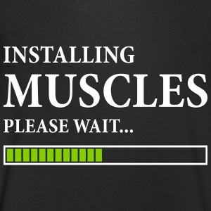 Installing Muscles T-Shirts - Men's V-Neck T-Shirt