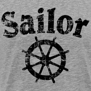 Sailor Wheel Vintage Sailing Design T-shirts - Premium-T-shirt herr