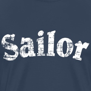 Sailor Vintage Sailing Design (White) T-shirts - Mannen Premium T-shirt
