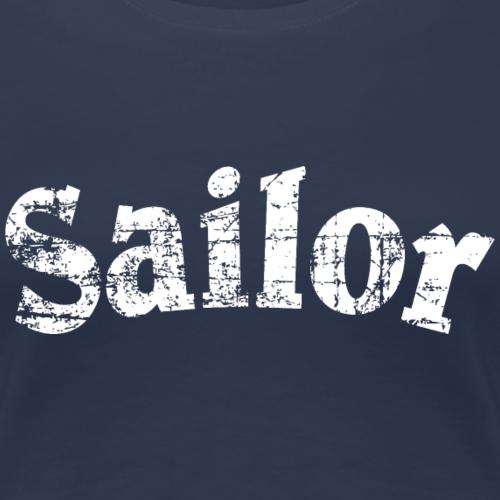 Sailor Vintage Segler Segeln Weiß
