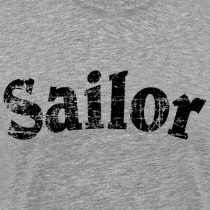 Sailor Vintage Sailing Design (Black) T-shirts - Mannen Premium T-shirt