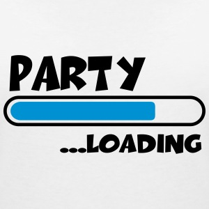 Party loading T-Shirts - Women's V-Neck T-Shirt