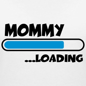 Mommy loading T-shirts - Vrouwen T-shirt met V-hals