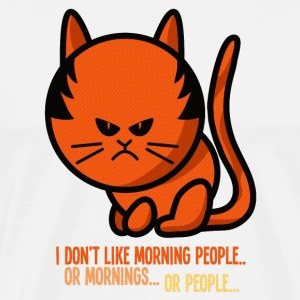 grumpy cat - i don't like morning people T-shirts - Mannen Premium T-shirt