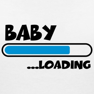 Baby loading T-Shirts - Women's V-Neck T-Shirt