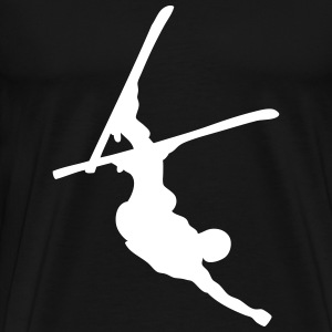 skier freestyle upside down T-shirts - Herre premium T-shirt