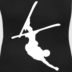 skier freestyle upside down T-shirts - T-shirt med u-ringning dam