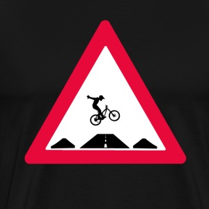 Bike trail crossing T-Shirts - Men's Premium T-Shirt