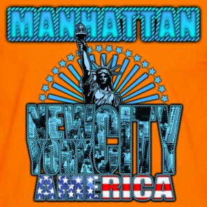 manhattan new york city america Tee shirts - T-shirt contraste Homme