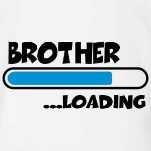 Brother loading Camisetas - Body orgánico de maga corta para bebé