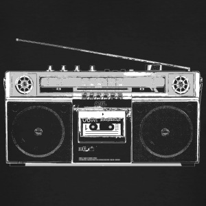 Ghettoblaster for Black Shirts T-Shirts - Männer Bio-T-Shirt