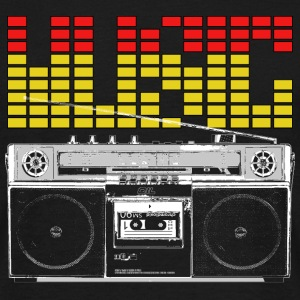 Ghettoblaster for Black Shirts T-Shirts - Männer T-Shirt