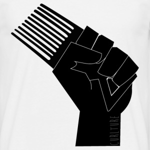 CURLture Frovolution Fist Logo T-Shirts - Men's T-Shirt