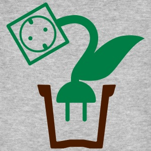 Green power plant pot - 2 Color Vector T-Shirts - Men's Organic T-shirt