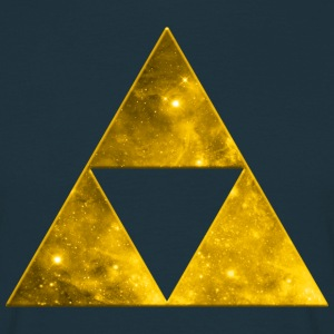 Space Triangle, Mathematics, Universe, Triforce,  Tee shirts - T-shirt Homme