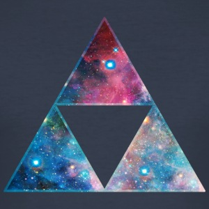 Galaxy Triforce, Mathematics, Universe, Space,  T-Shirts - Men's Slim Fit T-Shirt