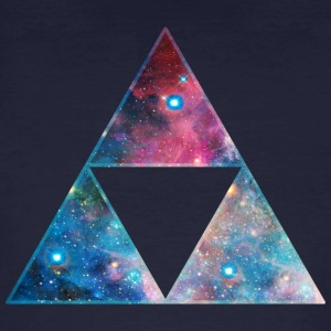 Galaxy Triforce, Mathematics, Universe, Space,  T-shirts - Organic mænd
