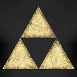 Triforce Dreieck, Geometrie, Mathe, Sierpinski - Männer Slim Fit T-Shirt