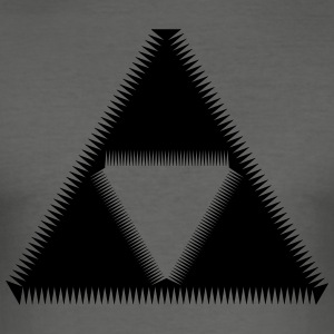 Sierpinski Triangle, Triforce, Mathematics, Shape T-Shirts - Men's Slim Fit T-Shirt