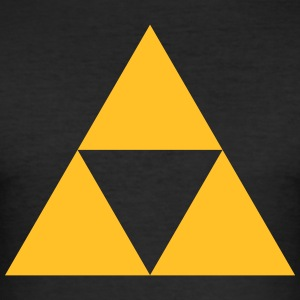 Triangle, mathematics, geometry, Triforce,  T-Shirts - Men's Slim Fit T-Shirt