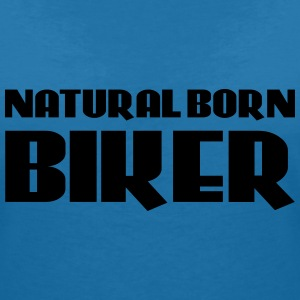 Natural born Biker T-Shirts - Women's V-Neck T-Shirt