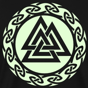 Valknut, Wotan Knot, Triforce Celtic Endless Knot  - Men's Premium T-Shirt