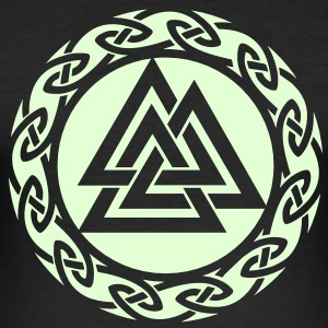 Valknut, Wotan Knot, Triforce Celtic Endless Knot T-Shirts - Men's Slim Fit T-Shirt
