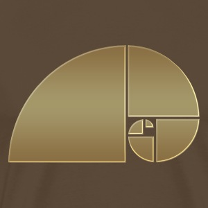 Fibonacci, Golden Spiral, Proportion, Phi, middle T-Shirts - Men's Premium T-Shirt