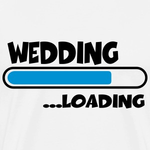 Wedding loading T-shirts - Herre premium T-shirt