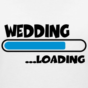 Wedding loading Tee shirts - T-shirt col V Femme
