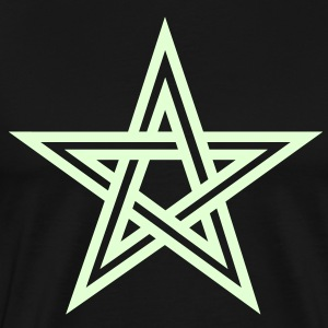 Pentagram, Glow in the dark, five star, magic,  T-shirts - Mannen Premium T-shirt